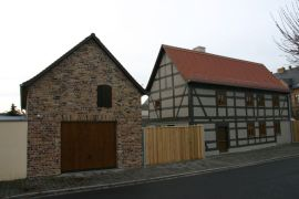 Fassade Fachwerk Lehm